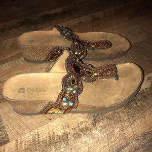 White Mountain Thong Sandals